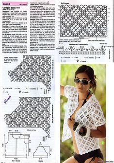 Ажурные Кофточки Блузки Джемперы Крючком Со Схемами