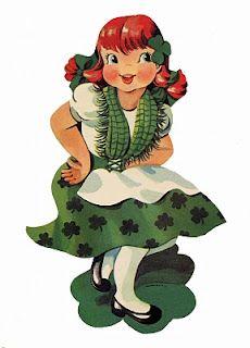 St. Patrick's Day Dancing Irish Girl