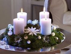 Ideas for Christmas decor 2 - http://ideasforho.me/ideas-for-christmas-decor-2/ -  #home decor #design #home decor ideas #living room #bedroom #kitchen #bathroom #interior ideas craft, candl centerpiec, christmas decorations, christma decor, christma idea, christmas candles, candle centerpieces, advent wreaths, candle decorations