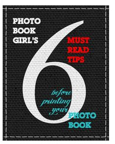 Photo Book Girl's Must Read Photo Book Tips - A Checklist