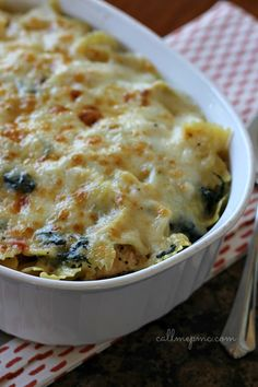 Flavorful, golden and bubbly  my Spinach Artichoke Chicken Pasta Bake combines a classic appetizer combo and transforms it into a dinner tim...