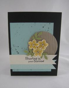Petite Petals Sympathy card -Stampin' Up by Miechelle Weber www.stampinu.wordpress.com