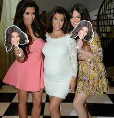 Kim, Kourtney and Khloe Kardashian at Kourtney's Baby Shower