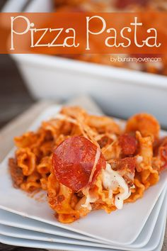 A new take on pizza night! Pizza pasta that your whole family will love!