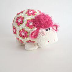 haken, craft, patterns, toy, wooli english, crochet, tessa van, sheep, amigurumi