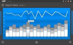 UI Concept for detail view of key performance indicator tile