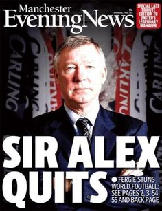 For the first time in over 25 years, the MEN reports on a Manchester United manager leaving