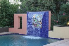 Personalized mosaic art pool -  By Michael Glassman & Associates