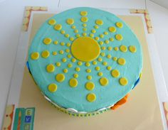 You are my sunshine 1st birthday cake