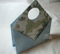 stand alone card holder made from 12x12 paper