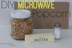 DIY Microwave Popcorn! An easy way to make popcorn at home without the chemicals found in the traditional microwave popcorn bags.