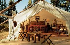 """Paul Zway, owner of Exclusive Tents Ltd. (which is relocating its headquarters from Arizona to Belize), has been planning a media campaign to push glamping further in the United States. """"It's still in its infancy [in the States]; I believe it's got a lot of potential,"""" he says. """"In other places [around the world], it's already growing rapidly."""" Exclusive Tents' deluxe digs can be found in all types of environments—such as Belize, Costa Rica, Turks and Caicos, Mexico, Seychelles, Maldives and ... honeymoon, tents, glamp, camping, resorts, montana, camps, travel, place"""