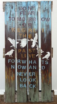 Wood Pallet Painting by therusticapple on Etsy, $80.00