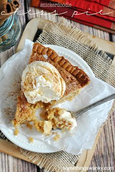 Snickerdoodle Chess Pie
