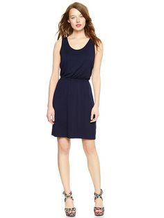 Gap Ruched T Back Dress