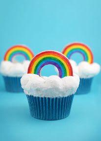 sweet, food, rainbow bright, rainbows, bright cupcak, bakerella, rainbow cupcakes, parti, dessert