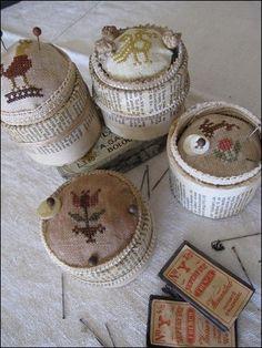 Napkin ring pincushions