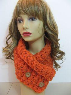 3 Button Crochet Neck Warmer