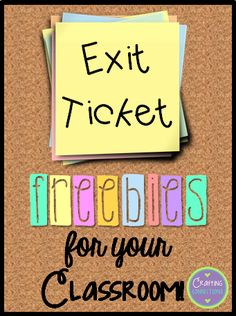 Exit Ticket FREEBIES! by Crafting Connections!