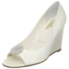 wedding fashion comfortable wedding shoes wedge bridal shoes by fara