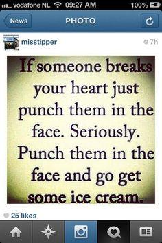Punch then ice cream :)