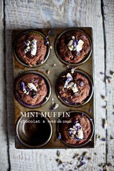 chocolate & coconut mini muffins