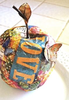 slice of mod podge apple anyone?