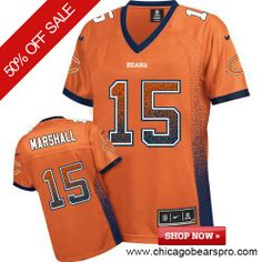 $109.99 Women's Nike Chicago Bears #15 Brandon Marshall Elite NFL Drift Fashion Orange Jersey