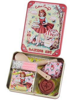 Teeny baking set for some lucky little girl!