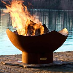 The Manta Ray Fire Pit – Wood Burning.  firepit  fire pits.  Also available in a Gas Fire Pit option