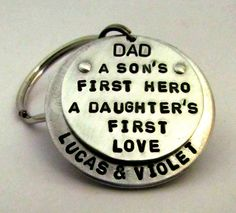 Personalized Father's Day Dad Key Chain
