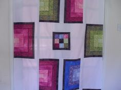 Half Log Cabin quilt pattern and tutorial from Ludlow Quilt and Sew.