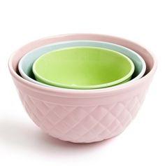 Sweet Lattice Bowl 3Pc Set