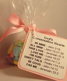 Gods Conversation Hearts Favor Idea  / Church Valentine craft!