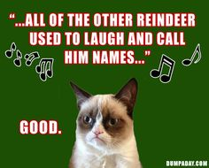 rudolph the red nosed reindeer, grumpy cat