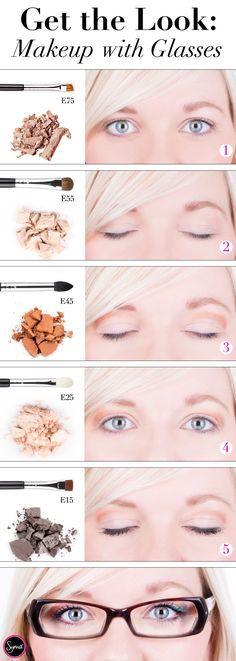 eye makeup, makeup glasses, glasses makeup tutorial, makeup with glasses, wear glass