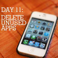 How to delete unused apps