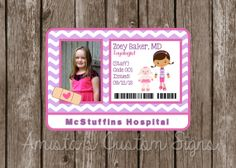 PRINTABLE Doc McStuffins Doctor Badge for Birthday parties, dress up, and more! YOU PRINT.