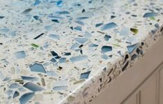 Recycled Glass Countertop for your Beach House