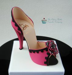 Hot Pink and Black Sugar Shoe by The Clever Little Cupcake Company (Amanda), via Flickr
