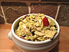 Paleo tuna salad made with guac, apples, and turkey bacon