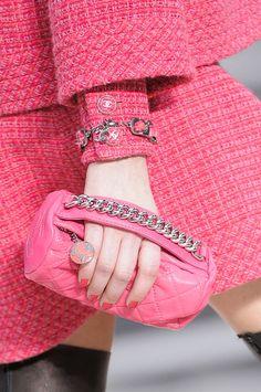 handbag, fashion, accessori, clutch, chanel detail, detail aw, fall 2013, chanel pink, chanel fall