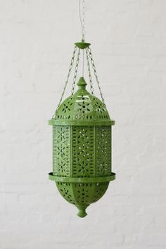 Medium Moroccan Pendant Light in Grass Green