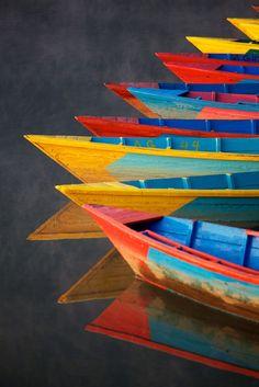 #rainbow #boats