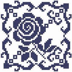 Χειροτεχνήματα: Τετράγωνα μοτίφ για κέντημα / Square cross stitch motifs