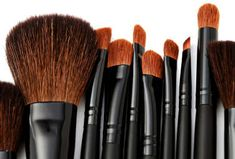 1/2 cup warm water and 1/4 cup vinegar, swoosh, then rinse to keep make up brushes clean.
