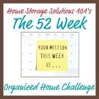 52 Week Organized Home Challenge