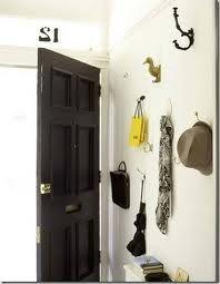 High gloss black front door