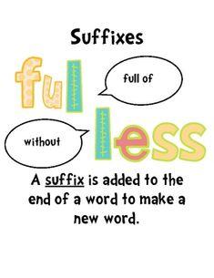 FREE Prefix/ Suffix posters
