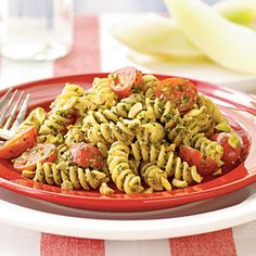 Fusilli with Pistachio Pesto | MyRecipes.com